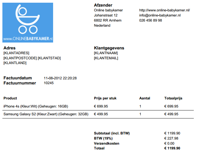 Helpdesk webwinkel facturen | Shopotheek